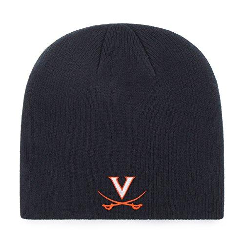 OTS NCAA Virginia Cavaliers Beanie Knit Cap, Navy, One ()