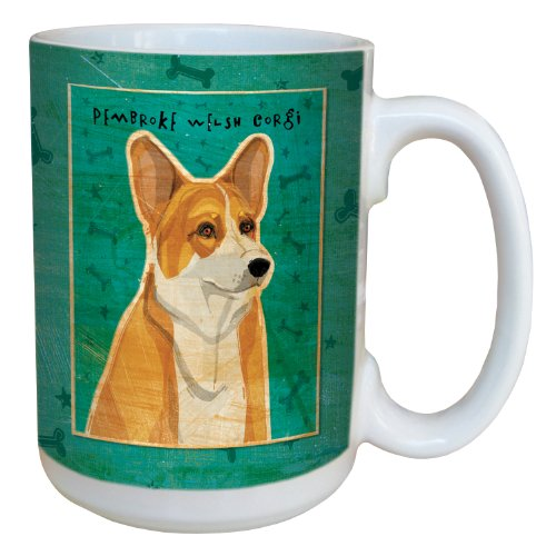 Tree-Free Greetings sg44044 Pembroke Welsh Corgi by John W. Golden Ceramic Mug with Full-Sized Handle, 15-Ounce ()
