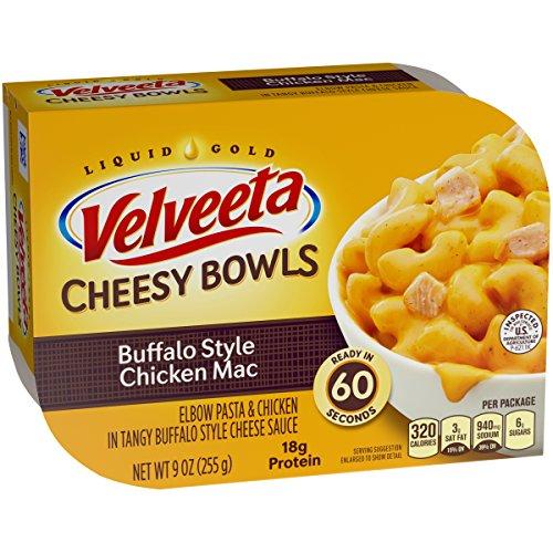 Velveeta Chesy Buffalo Style Chicken Macaroni & Cheese Bowls (9oz Boxes, Pack of 6)