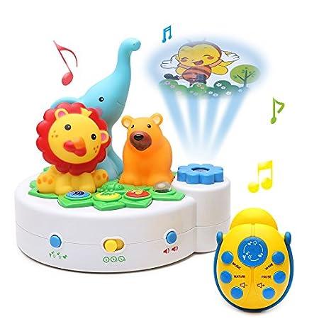 bo te musique en plastique pour b b avec projecteur monde animal jouets musicaux par beby. Black Bedroom Furniture Sets. Home Design Ideas