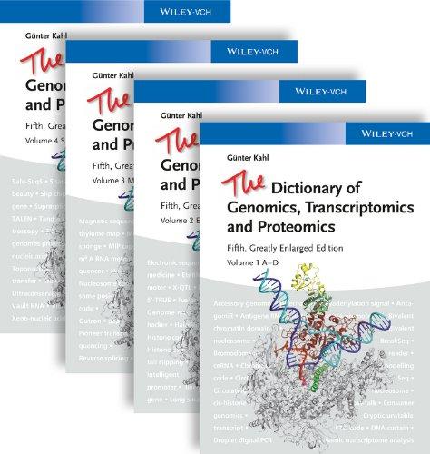 The Dictionary of Genomics, Transcriptomics and Proteomics Pdf