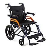 KosmoCare Tranz Dzire Premium Aluminum Folding Wheelchair with Seat Belt