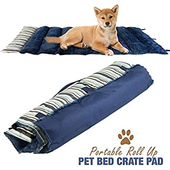 Amazon Com Petmaker Roll Up Travel Portable Dog Bed
