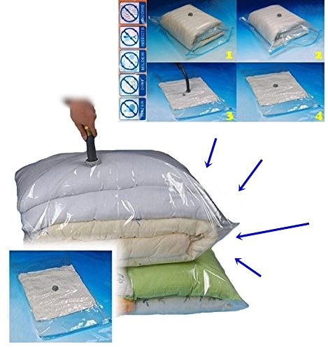 25x Large Size New Improved Extra Strength Double Lock Valve System Vacuum Storage Bags / Space Saver Compressed Bag (90cm x - Day Air Prices Next Ups