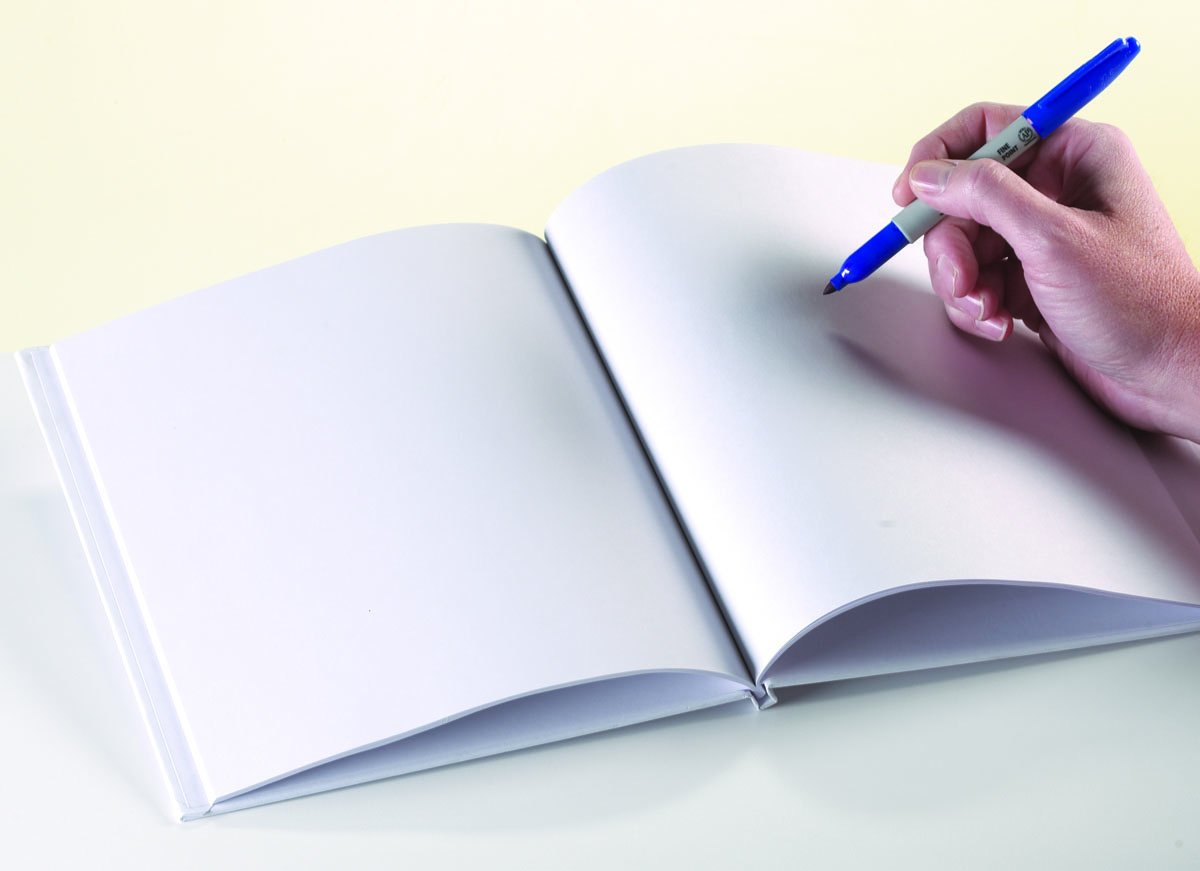 White Blank Books with Hardcovers 8.5''W x 11''H (6 Books / Pack)