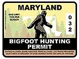 Bigfoot Hunting Permit - MARYLAND (Bumper Sticker)