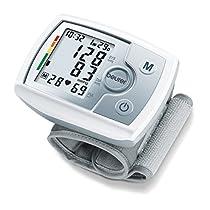 Beurer BC31 Tensiómetro de muñeca, pantalla LCD, indicador OMS, memoria 60 mediciones, plata