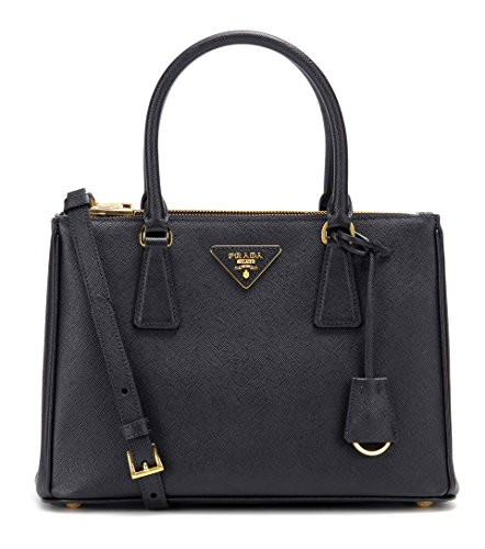 Authentic Prada Leather Handbag - PRADA Bags Cross Body Shoulder Tote Handbags Black Saffiano Leather 100% authentic
