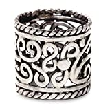 NOVICA .925 Sterling Silver Band Ring, 'Floral Rapture'