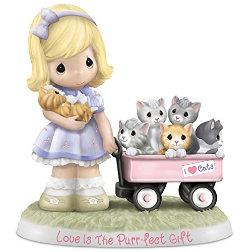 The Hamilton Collection Figurine: Precious Moments Love is The Purr-FECT Gift Figurine