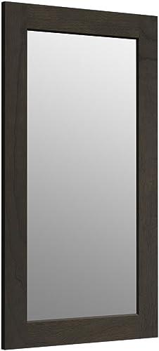KOHLER K-99666-1WC Poplin 35.5-Inch x 20.5-Inch Rectangular Framed Mirror, Felt Gray