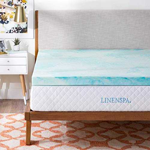 (Linenspa 3 Inch Gel Swirl Memory Foam Topper - Queen (Renewed))