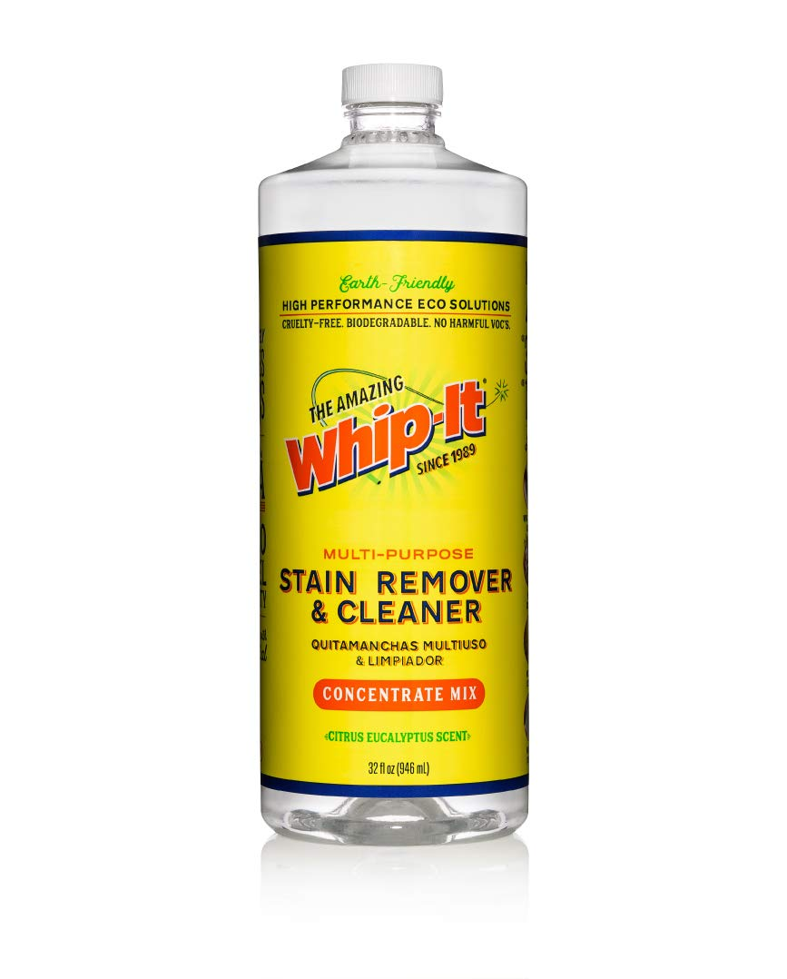 Amazing Whip It Cleaner, Multi Purpose Stain Remover Concentrate, Natural Plant Based Enzyme Cleaner, Safe for Family and Pets, Over 500 Different Uses, Made in the USA, 32 oz