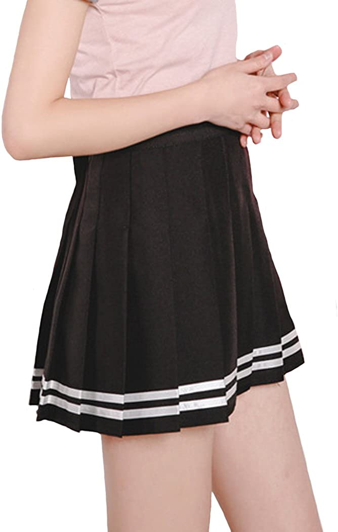 School Grey Mini Skirt Women/'s Girls Micromini Short High Waist Club Rave Party