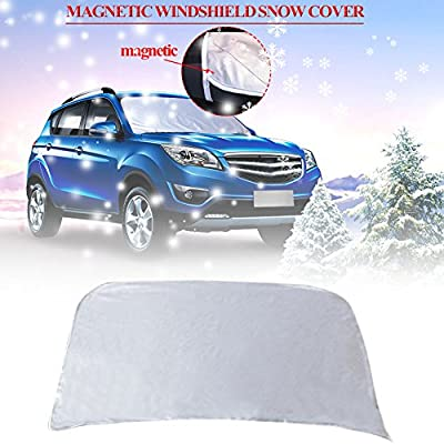 Car Windshield Snow Cover & Sun Shade Protector with Magnetic for -Car-Van-SUV