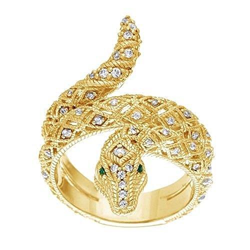 Yellow Gold Diamond Snake - 2