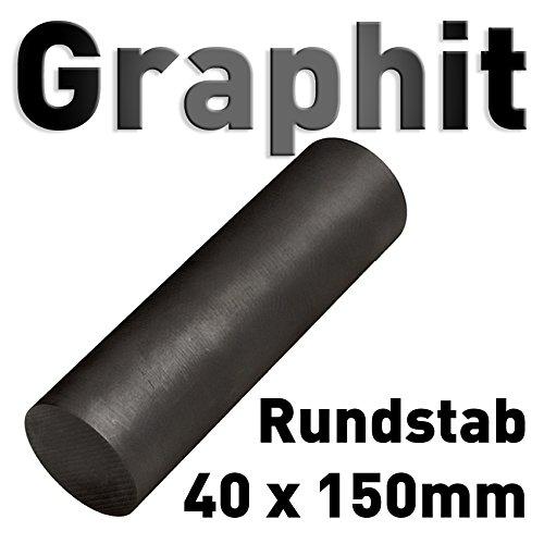 Graphit Rundmaterial 40mm x 150mm lang Zylinder Elektrode Stab Kohlenstoff 6' Polymet - Reine Metalle.