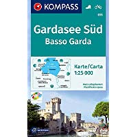 KOMPASS Wanderkarte Gardasee Süd, Basso Garda: Wanderkarte mit Radwegen. GPS-genau. 1:25000: Wandelkaart 1:25 000 (KOMPASS-Wanderkarten, Band 695)
