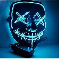 TW1000 Halloween LED Máscaras para Cosplay Festival Party Show Fiesta de Música Mascarada (Azul)