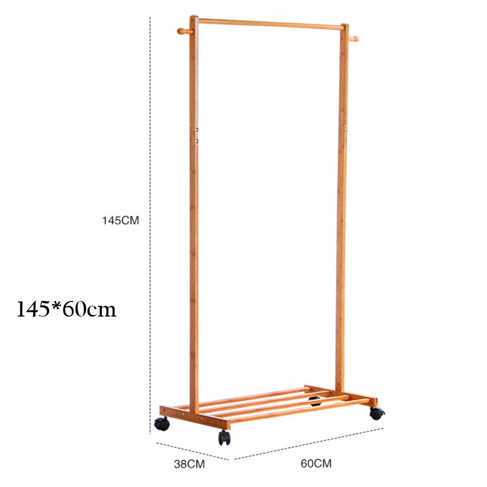 14560cm DYR Multi-Function Coat Hanger Solid Wood Floor with Shelves for Storing Space Stable and Resistant Pulley (Dimensions  145  70cm)
