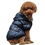 Naladoo Pet Dog Cold Weather Coats Fur Collar Cotton Jacket Warm Puppy Clothes