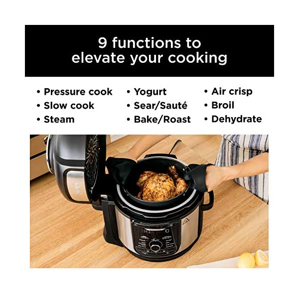 Ninja FD401 Foodi 8-Quart 9-in-1 Deluxe XL Pressure Cooker, Broil, Dehydrate, Slow Cook, Air Fryer, and More, with a… 3