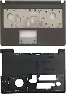 New Laptop Replacement Parts Fit Dell Inspiron 15-5000 5555 5558 5559 (Palmrest Cover Case+Bottom Base Cover Case)