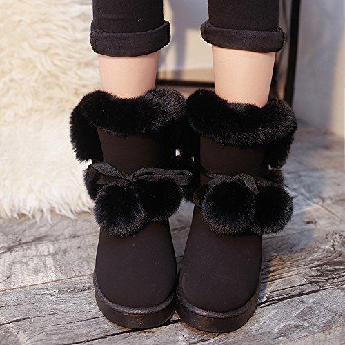 Botas Modelos Invierno Zapatos Mujer Sra Zapatos Negro de de Invierno Nieve Algodón Botas de Cálidos la de TUxHFwqw