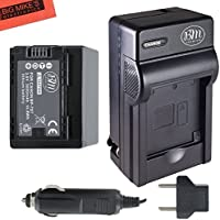 BM Premium BP-727 Battery and Charger for Canon Vixia HFR80, HFR82, HFR800, HFR30, HFR32, HFR300, HFR40, HFR42, HFR400, HFR50, HFR52, HFR500, HFR60, HFR62, HFR600, HFR70, HFR72, HFR700, HFM52, HFM500