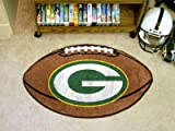 Green Bay Packers NFL 22″ x 35″ Football Shaped Area Rug Floor Mat Review