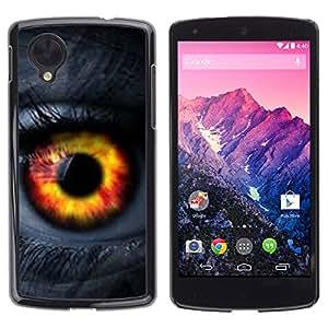TaiTech/Duro Carcasa Funda–naranja pasión mujer Lashes–LG Google Nexus 5D820D821
