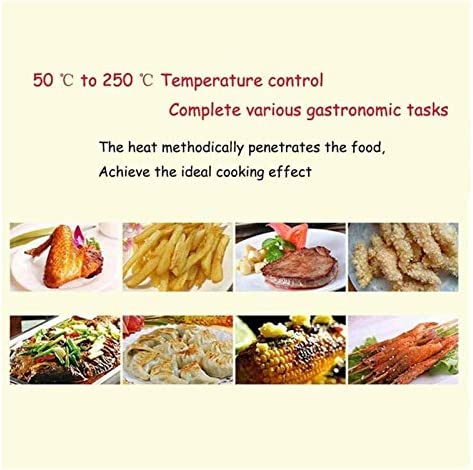 XIAOGING Multifunctionele Air Fryer, High Temperature Verwijder olie Frying Machine All-Glass Perspective LED Lightwave Furnace