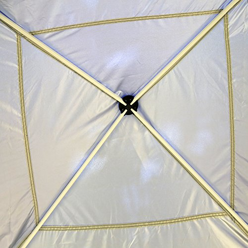 VIVOHOME Outdoor Easy Pop Up Canopy Screen Party Tent with Mesh Side Walls Blue 10 x 10 ft by VIVOHOME (Image #4)