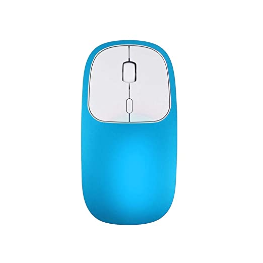 Rechargeable Ultra-Thin Silent Optical Type C Mouse Mice for Notebook (Blue)