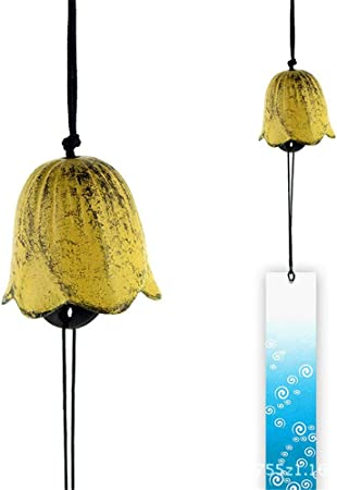 Campanas de viento Jardín de estilo japonés Decoración colgante Campana de viento Campana colgante japonesa Hierro fundido antiguo Campana de viento Decoración Timbre Conjunto de 2 Regalo destacado: Amazon.es: Hogar