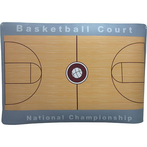 Stats foam basketball court b009iwozam amazon price for Average basketball court size