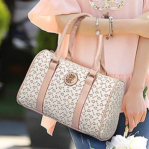 à Rose Femme Taille pour Sac Moontang 134233602 Rose DEHAZ bandoulière Blanc Rose coloré Bx165T