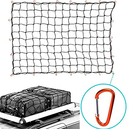 """HQAP 5'x7' Super Duty Bungee Cargo Net for Truck Bed Stretches to 10'x14' 