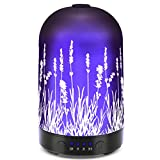 Aromatherapy Essential Oil Diffuser 100ml Glass Fragrance...