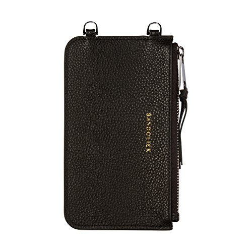 Bandolier [Emma] Leather Pouch - Black with Silver Accent - Compatible with All Bandolier Phone Cases