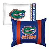 2pc NCAA Florida Gators Pillowcase and Pillow Sham Set College Team Logo Bedding Accessories