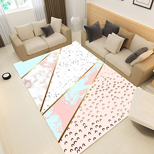 Geometric Marble Pattern 3D Print Carpet Living Room Rug Sofa Coffee Table Mat Bedroom Yoga Pad Rectangular