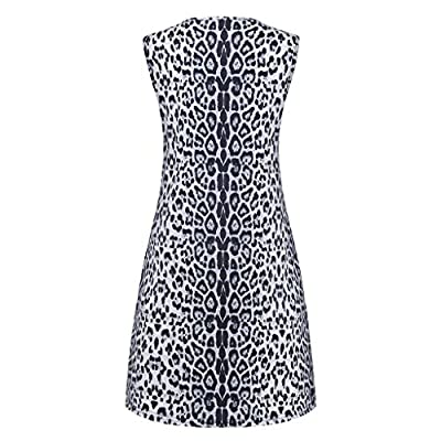 Hotkey Women's Summer Casual Swing T-Shirt Dresses Leopard Print Cocktail Party Swing Dress Pockets Sundress for Summer: Clothing