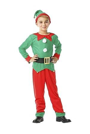 Kimokawaii Disfraz Elfo Talla 3-4 AÑOS TAMAÑO Infantil