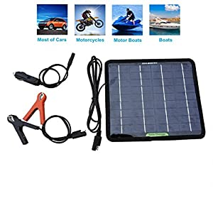 511VYnLl5hL. SS300  - ECO-WORTHY 12 Volts 5 Watts Portable Power Solar Panel Battery Charger Backup for Car Boat Batteries