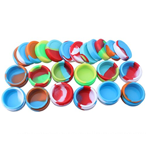 Storage Silicone Container for Wax Silicon Jar Vial for Oil Wax Container Jar for Cream 12pcs pack (22ml) - E Liquid Container