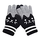 RARITY-US Women Men Winter Touch Screen Gloves Warm Knit Texting Mittens for Smartphone