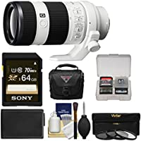 Sony Alpha E-Mount FE 70-200mm f/4.0 G OSS Zoom Lens with 64GB Card + Case + Battery + 3 Filters Kit for A7, A7R, A7S Mark II Cameras