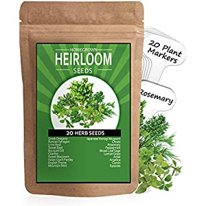 12 Unique Strains Pure Pollinations Herb Seed Variety Kit 100/% Heirloom /& Non GMO Spice up your Garden