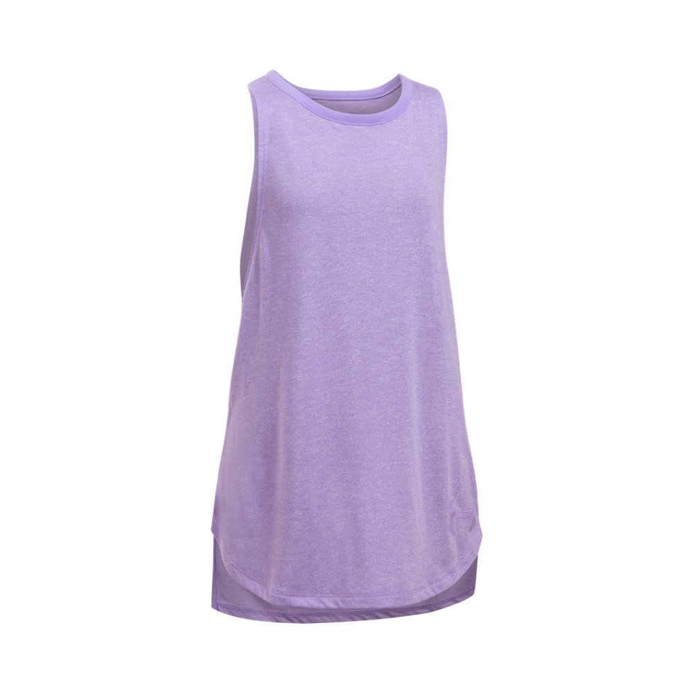 Under Armour Kids Girl's Threadborne Play Up Tank Top (Big Kids) Dark Lavender/Dark Lavender Tank Top